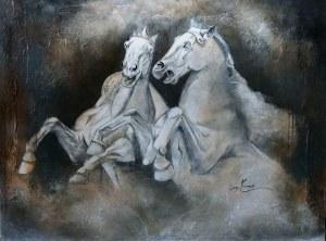 Acrylique sur toile, 36 x 48 po, disponible