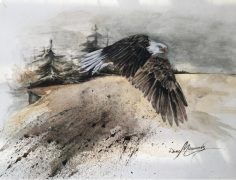 Aquarelle 14 x 11 po, sur papier aquarelle cold pressed